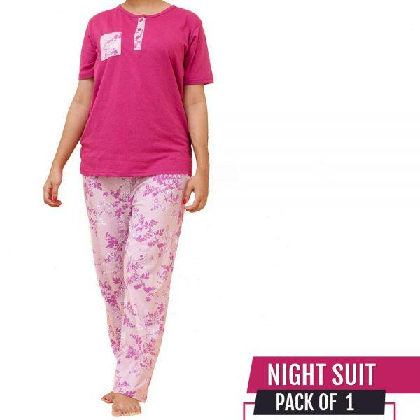 Stylish Pink NightSuite For Girl Women 14808218a
