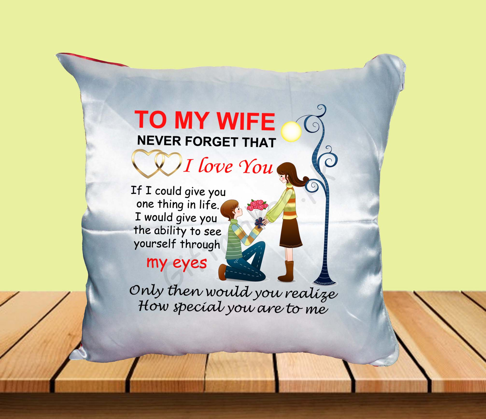 Anniversary and Birthday Cushion for Wife