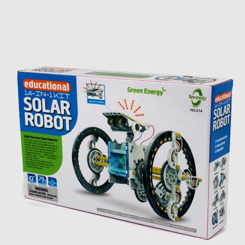 14-in-1 Educational Solar Robot Kit Powered by the Sun
