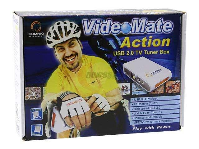 COMPRO VIDEO MATE ACTION USB 20 TV TUNER BOX EXTERNAL BRAND NEW PACK