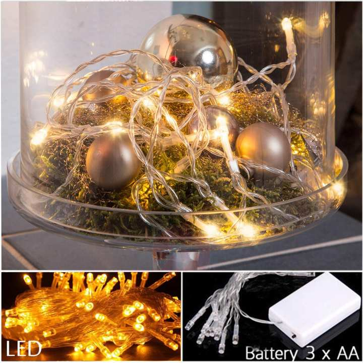 Fairy Lights Pack of 2 Led String Light Table Decor Wall Decor and Home Decor Light For Wedding Party Event Indoor Wall Window Home and Garden Decoration