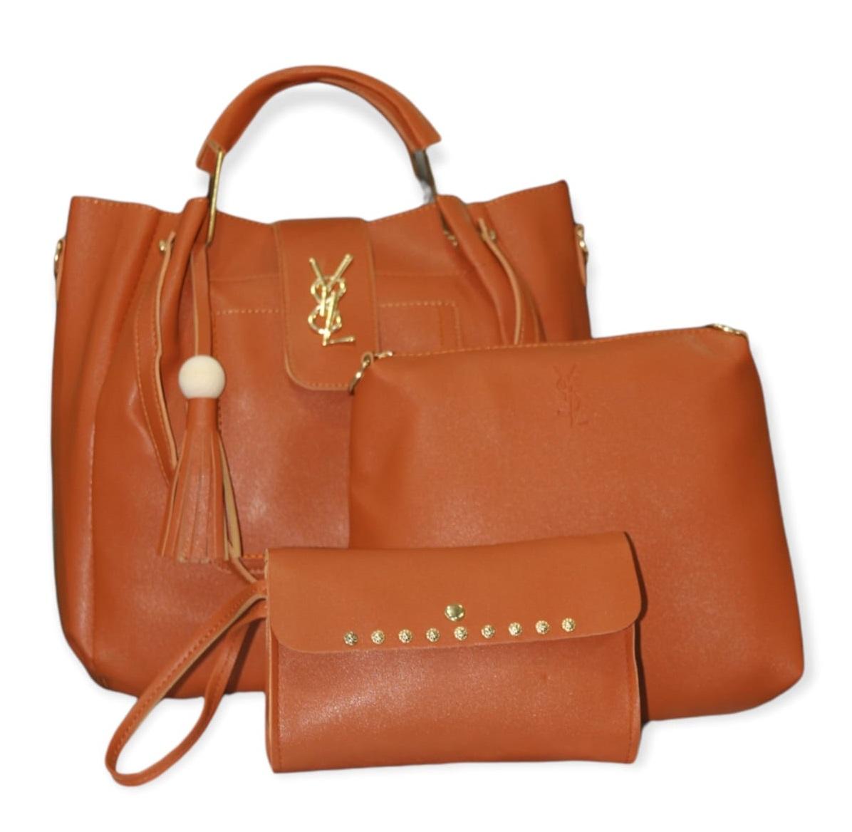 3 in 1 Handbags for Girls, Women, Ladies, Tote Bag, Purse and Shoulder Bag