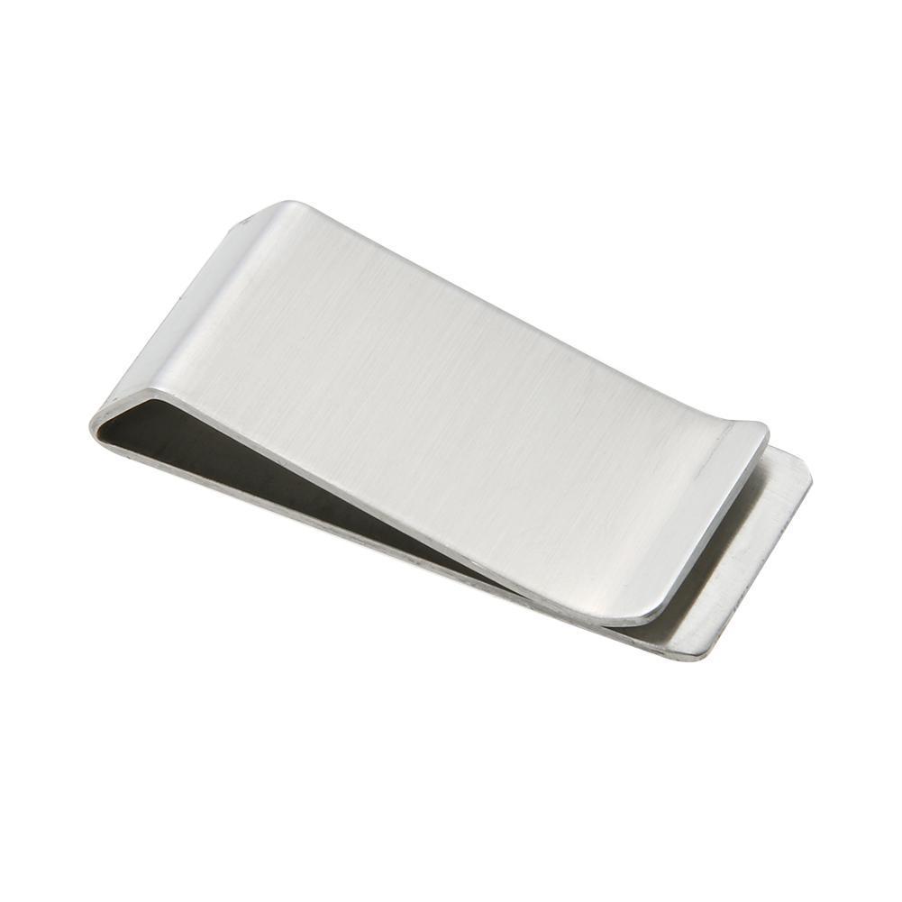 24a19d8072a9e Metal Stainless Steel Money Clip Holder Cash Clamp Collar Clip Card Folder