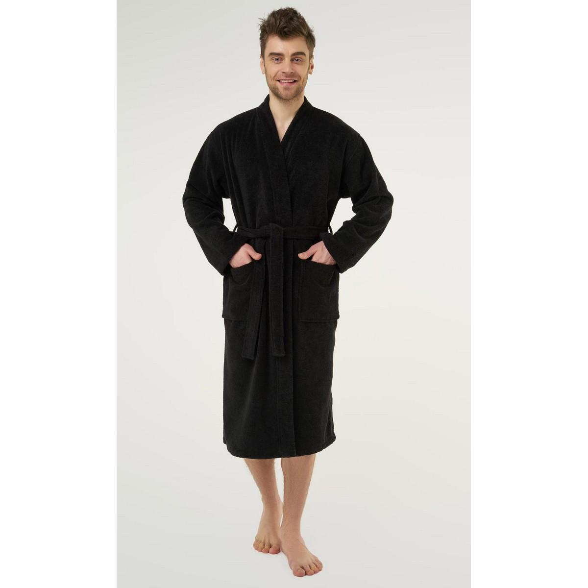 Black Bathrobe for Men & Women