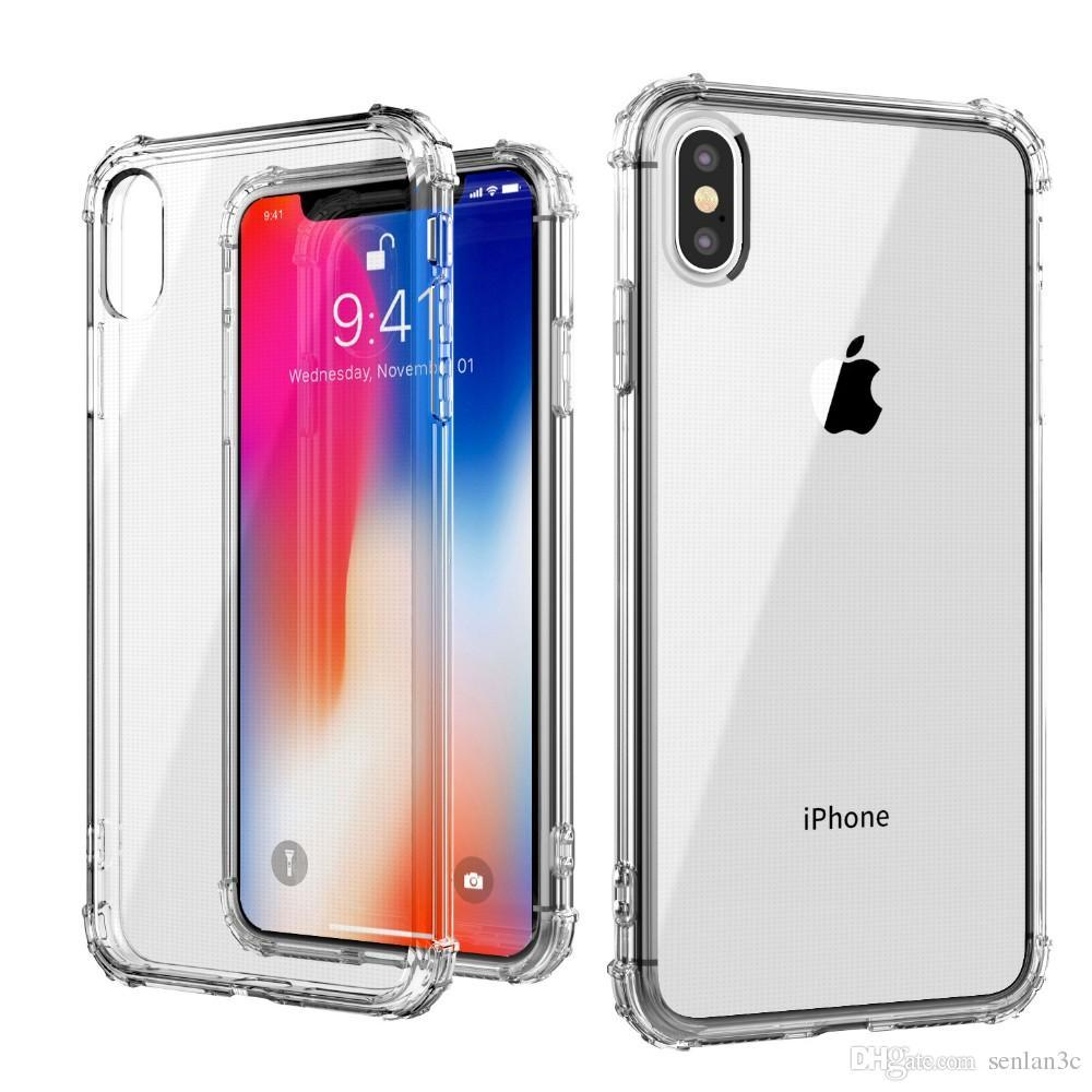buy online 93293 501bd ShockProof Anti-Burst Scratch Proof Transparent TPU Mobile Back Case For  IPhone XS Max