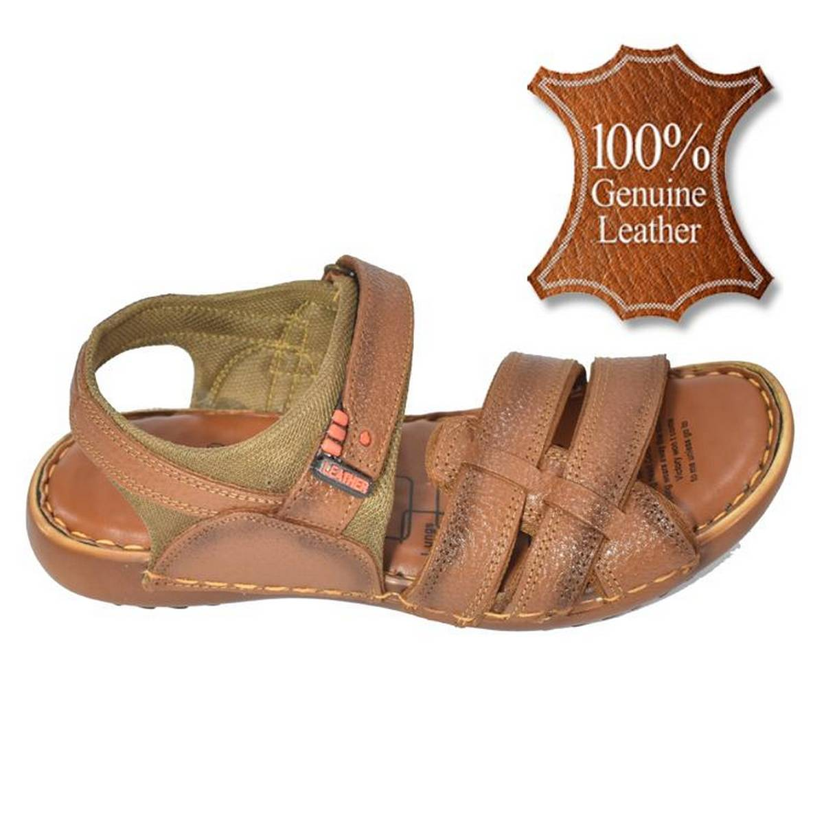 Leather Sandal For Men  (100% Pure Leather)