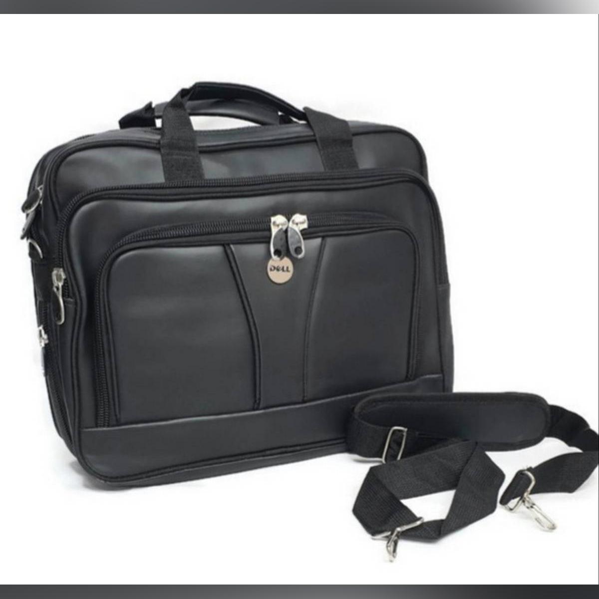 Mens Laptop Bag Briefcase Messenger Office Work Shoulder Bag Faux Leather