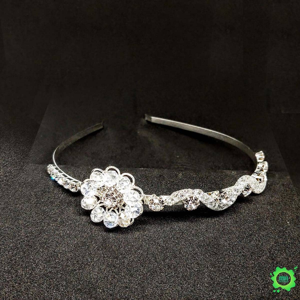 Gold Plated Metal Rhinestone Bride Headband Hairband Bridal Hair Jewelry Head Piece Wedding Crown Accessories mhfashion