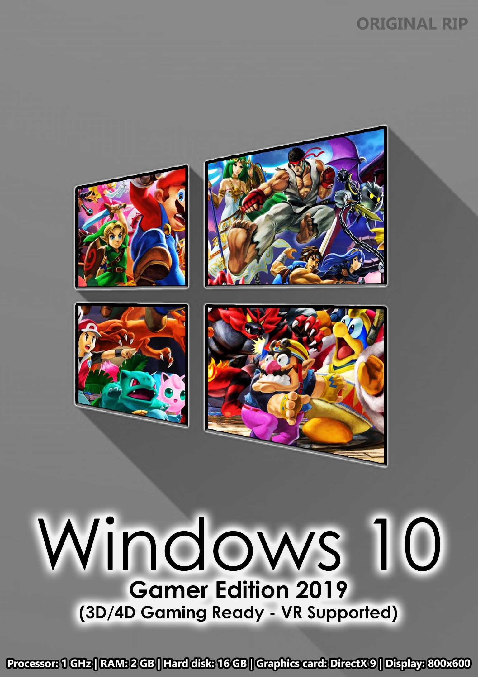 Windows 10 Gamer Edition 2019 (Latest Updates)