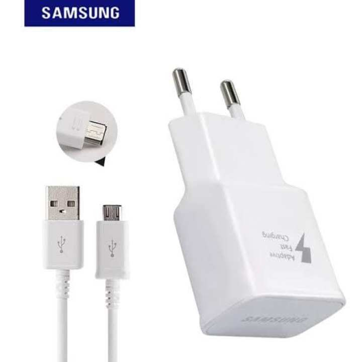 Original Samsung Fast Charger for Galaxy S6 S7 Edge Note 4 5 A510 A710 C7 Adaptive Quick Wall Travel Adapter 9V 1.67A & 5V 2A