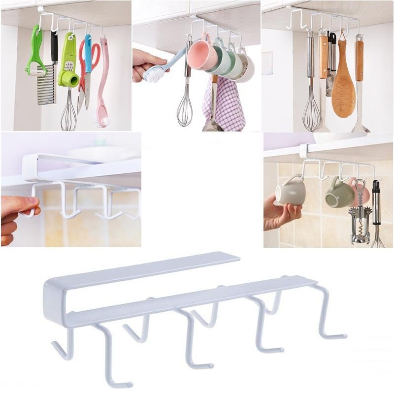 Kitchen Mug Cups Kitchen Utensils Storage Iron Under Shelf