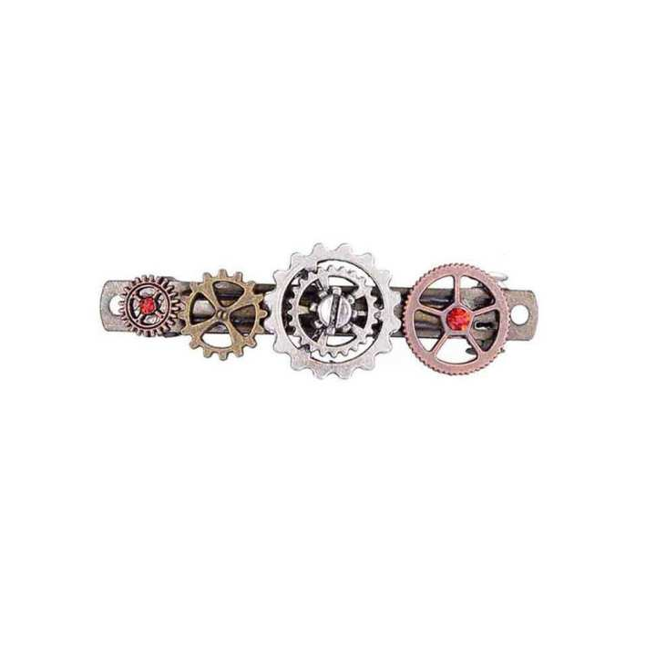 Jewelry Steampunk Gear Alloy Butterfly Spring Clip Hair Clip Hair Accessories