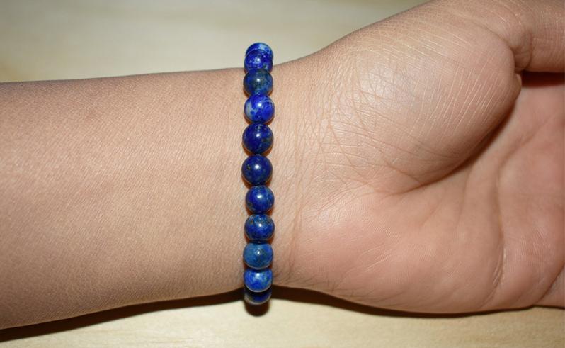 6mm Genuine Lapis Lazuli Gemstone Bracelet For Men & Women