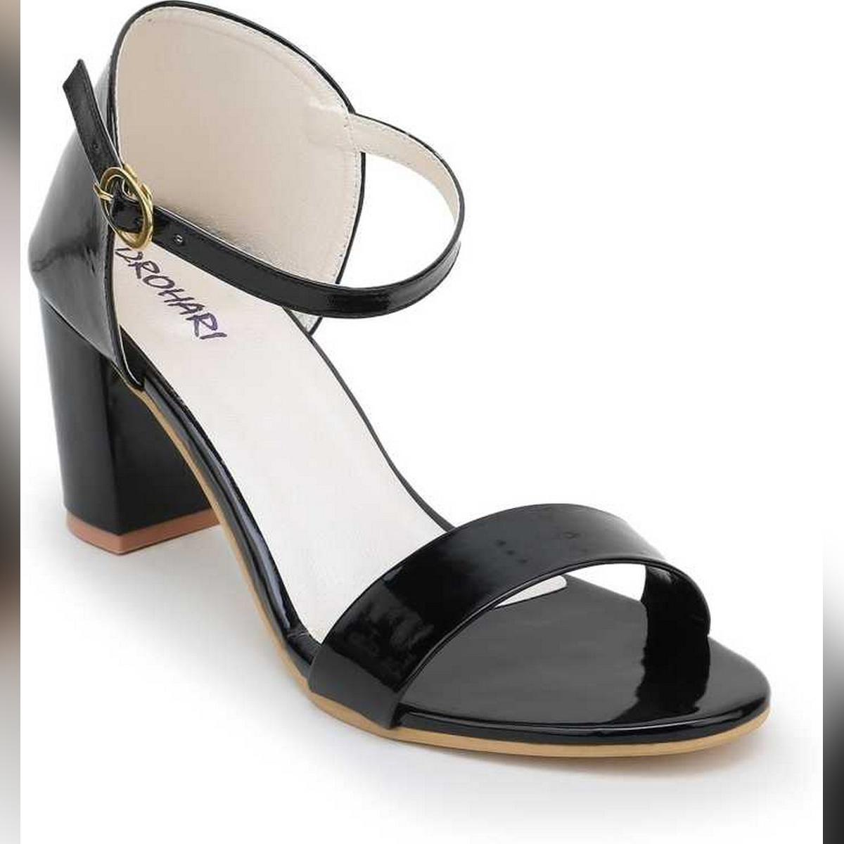 Women Block Heel Wedding Heels Ankle Strap Heel Sandals Bridal Shoes Party Wear