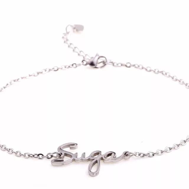 Kpop BTS name Titanium Steel Bracelet V jimin
