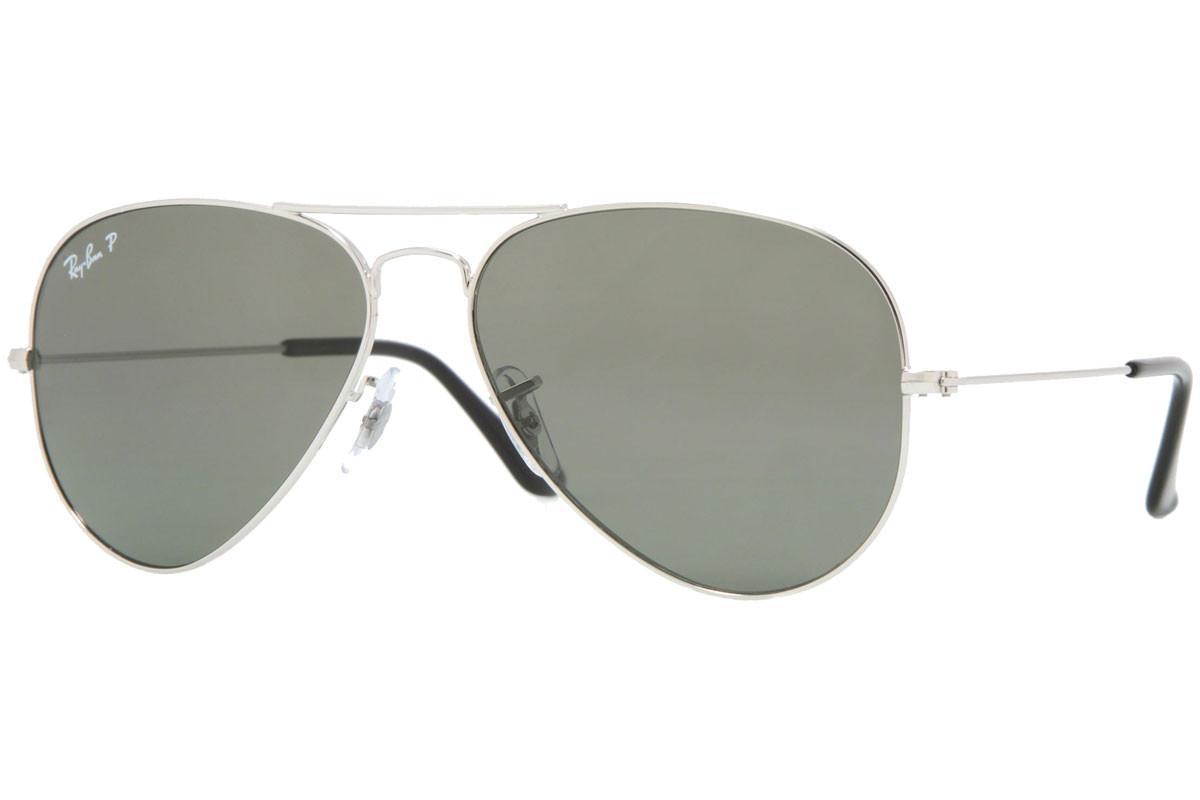 Ray Ban Aviator RB 3025 003 58 54.14 3P Silver Frame Green Polarized 062a810688051
