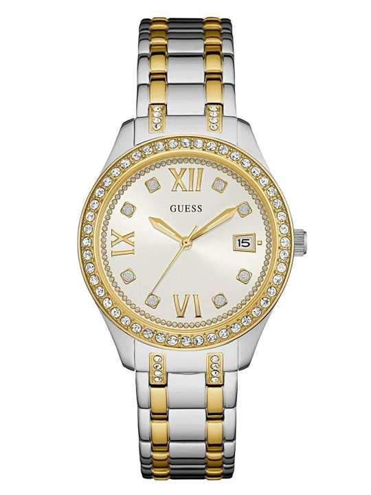 Guess Analogue White Dial Women's Watch-W0848L4