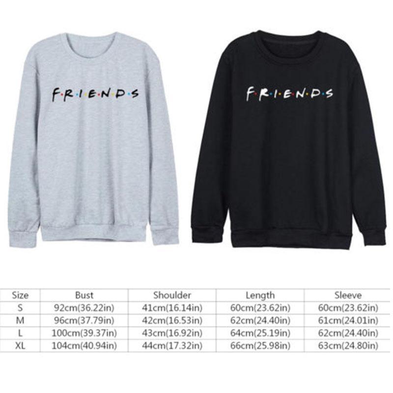 f5cf2f4e Women Friends Sweatshirt Casual Winter Autumn Warm Hoodies Letter Print  Pullover