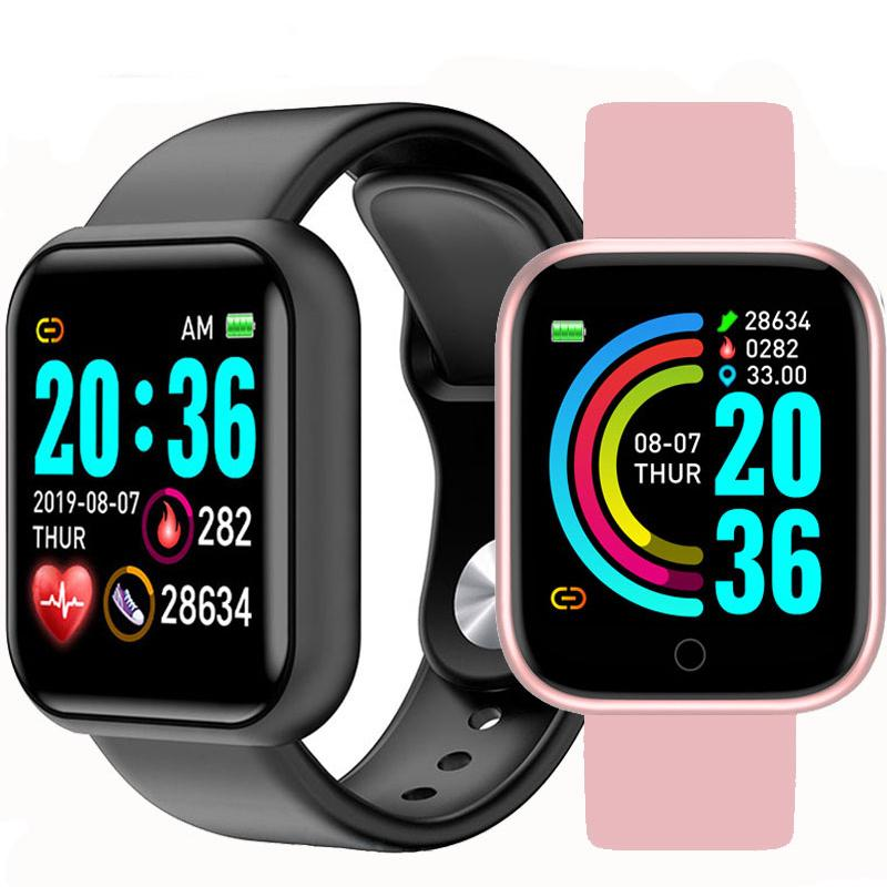 D20 Bluetooth Smart Watch Band for Android iOS - Call Message WhatsApp Notifier  Complete Health & Fitness Tracker Smart Bracelet