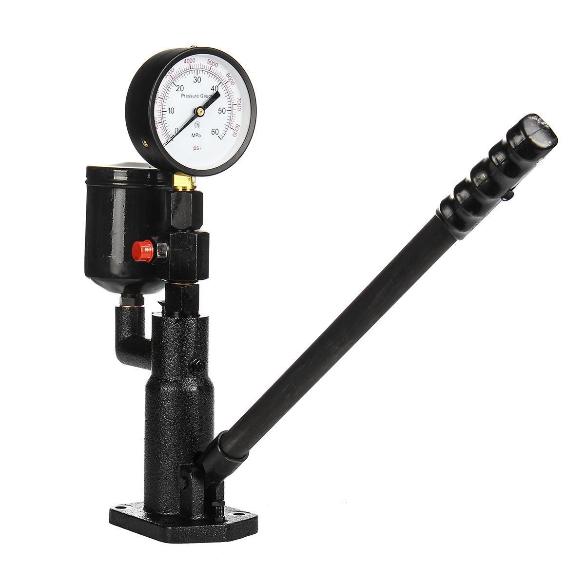 Pop Diesel Injector Nozzle Pressure Tester Dual Scale Read Gauge Bar PSI  0-60Mpa