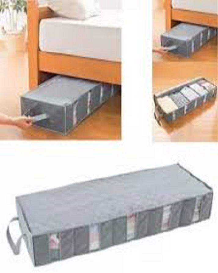 Underbed Storage Bag Home Storage Organizer Under The Bed Organizer Fits for Kids Men & Women Clothes /Shoes(Extra Large )