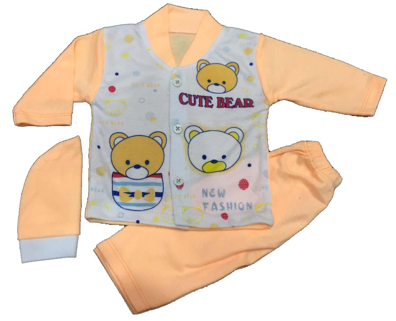 Pack of 6 – Infant / Newborn Clothing with Caps - Multicolour