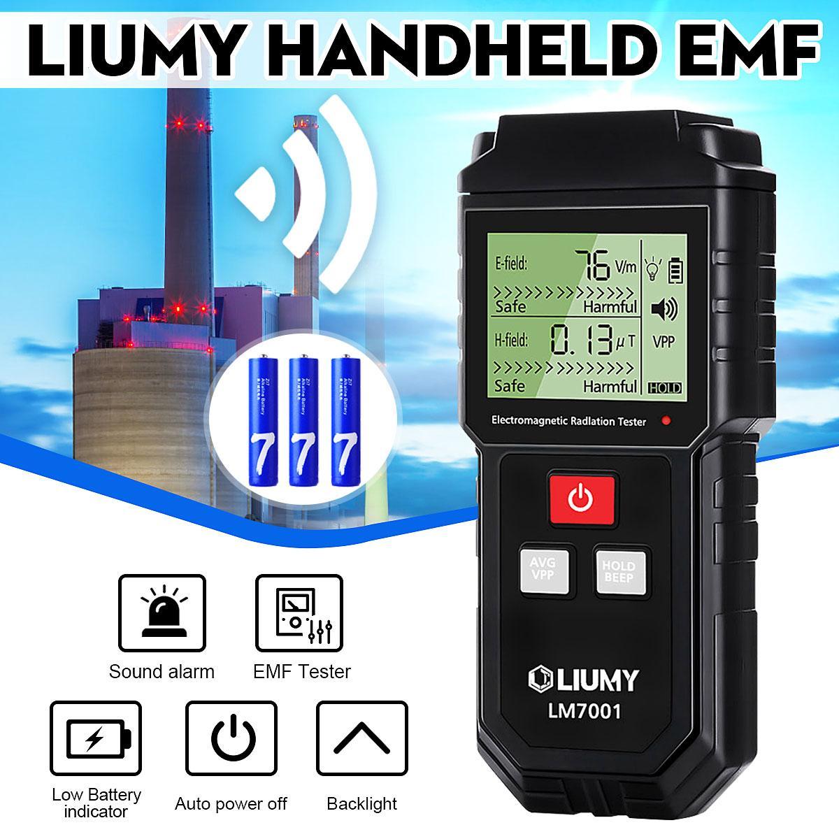 LIUMY Digital Electromagnetic Radiation Detector EMF Meter 1-1999V/m  0 01-99 99