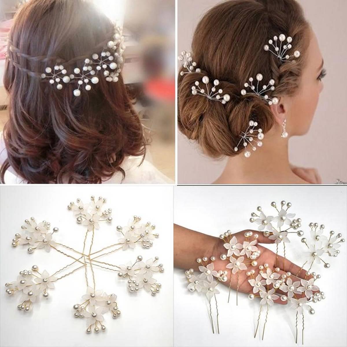 20PC Hairpins Wedding Women Hair Accessories Bridal Crystal Rhinestone Headdress Hair Pins Hair Clips Bridesmaid Barrettes