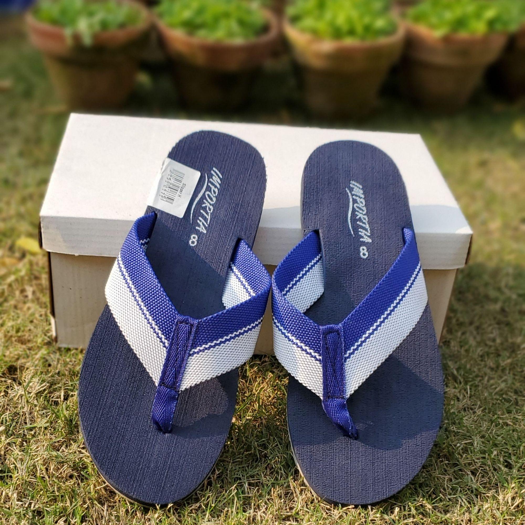 Importia Blue Summer Slippers/Flipflops for Men