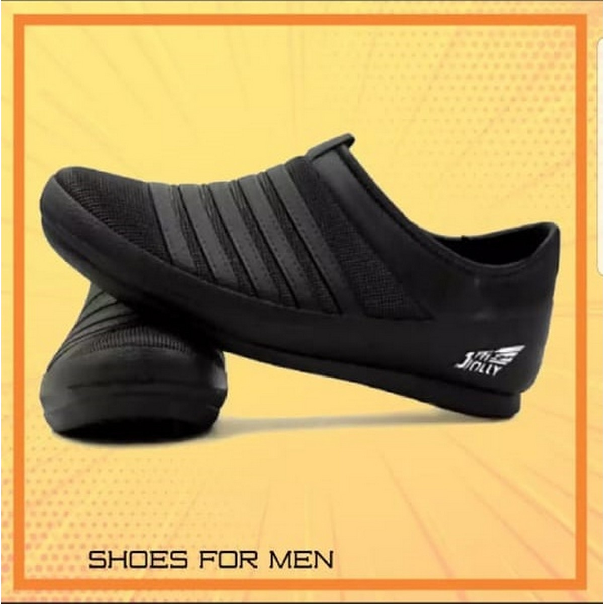 JOLLY CASUAL BLACK SHOE FOR MEN WITH LATEST DESIGN