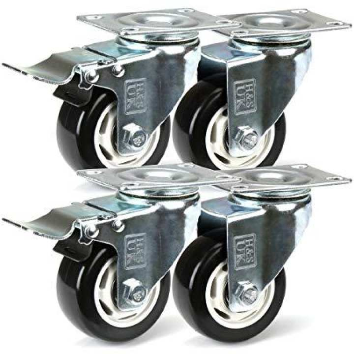 2 Inch Heavy Duty Pu Trolley Caster Wheel Revolving With Brakes