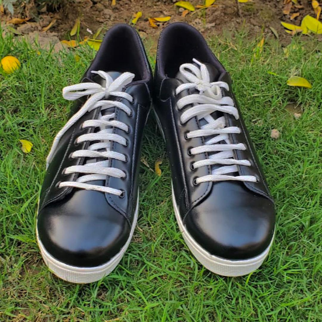 Black Importia Fashion Sneakers Lightweight Men Casual Shoes