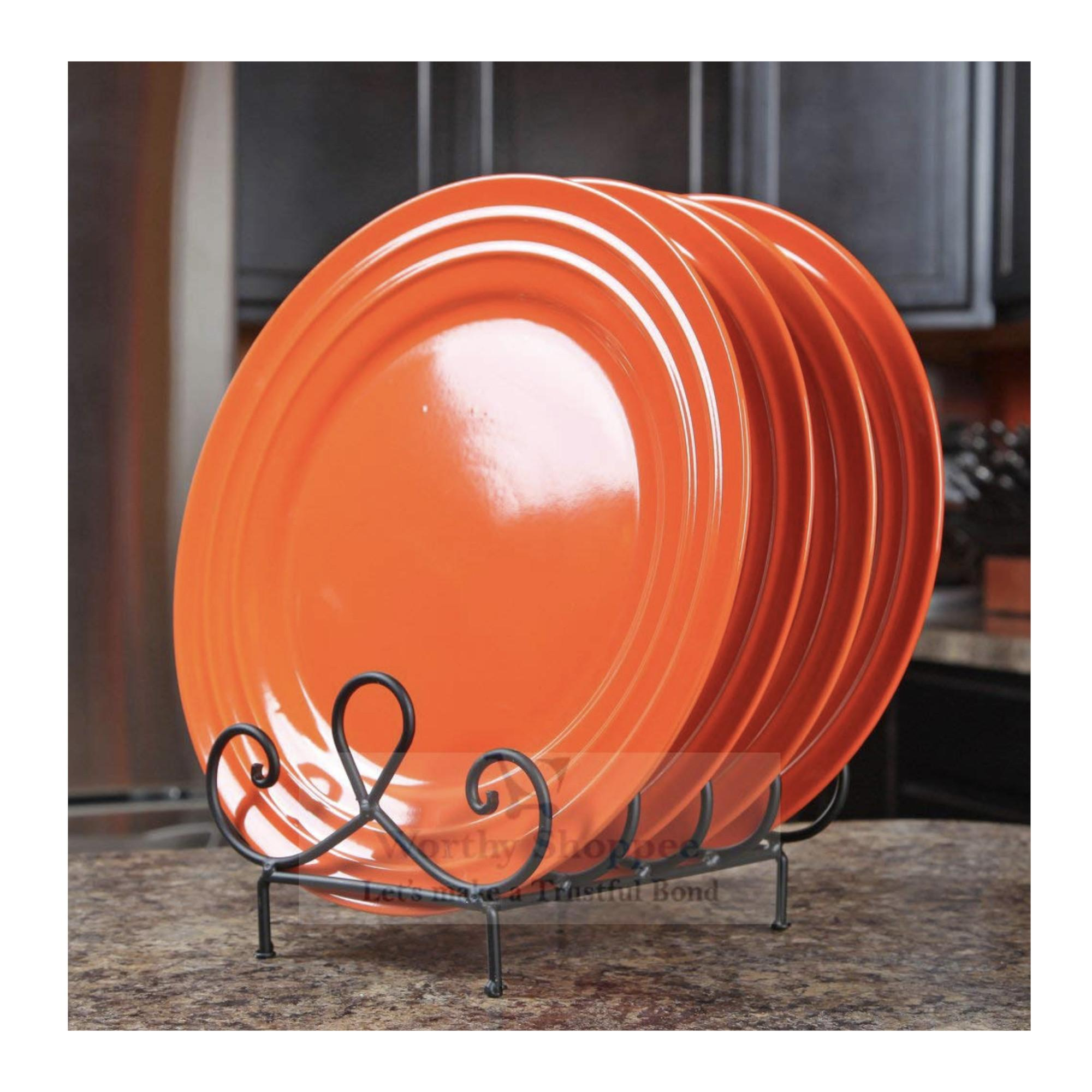 Luxury Stylish 4 Place Plate Holder Plate Stand Dish Rack Dish Holder