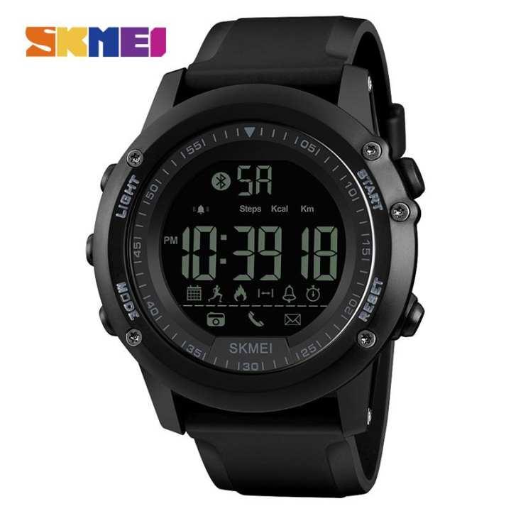 SKMEI New Men Sports Watch Smart Bluetooth Watches Pedometer Calories Fashion Waterproof Digital Wristwatches Male Clock 1321