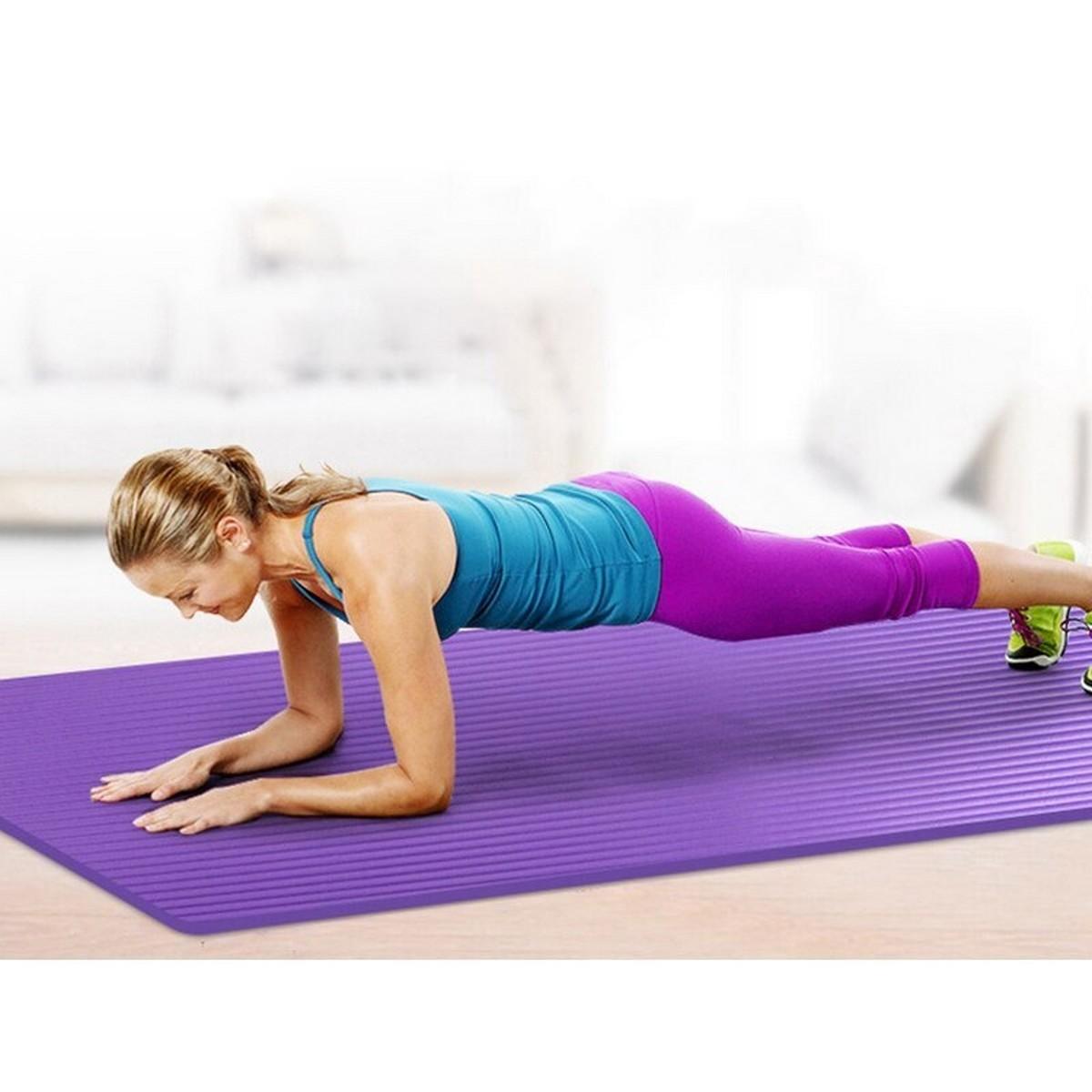 Yoga Mat Sport Mat Yoga non-slip acupressure Exercise For Gym Floor With Position Line Non-slip For Beginner Mats 4mm thickness