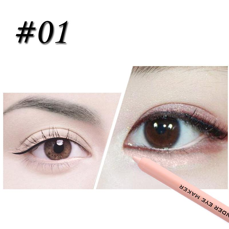 pretty nice 2f348 55e9b MISS ROSE 3colors Eyeliner Pencil Non-Stick Cup Lying Silkworm Pen  Concealer Makeup Waterproof Long