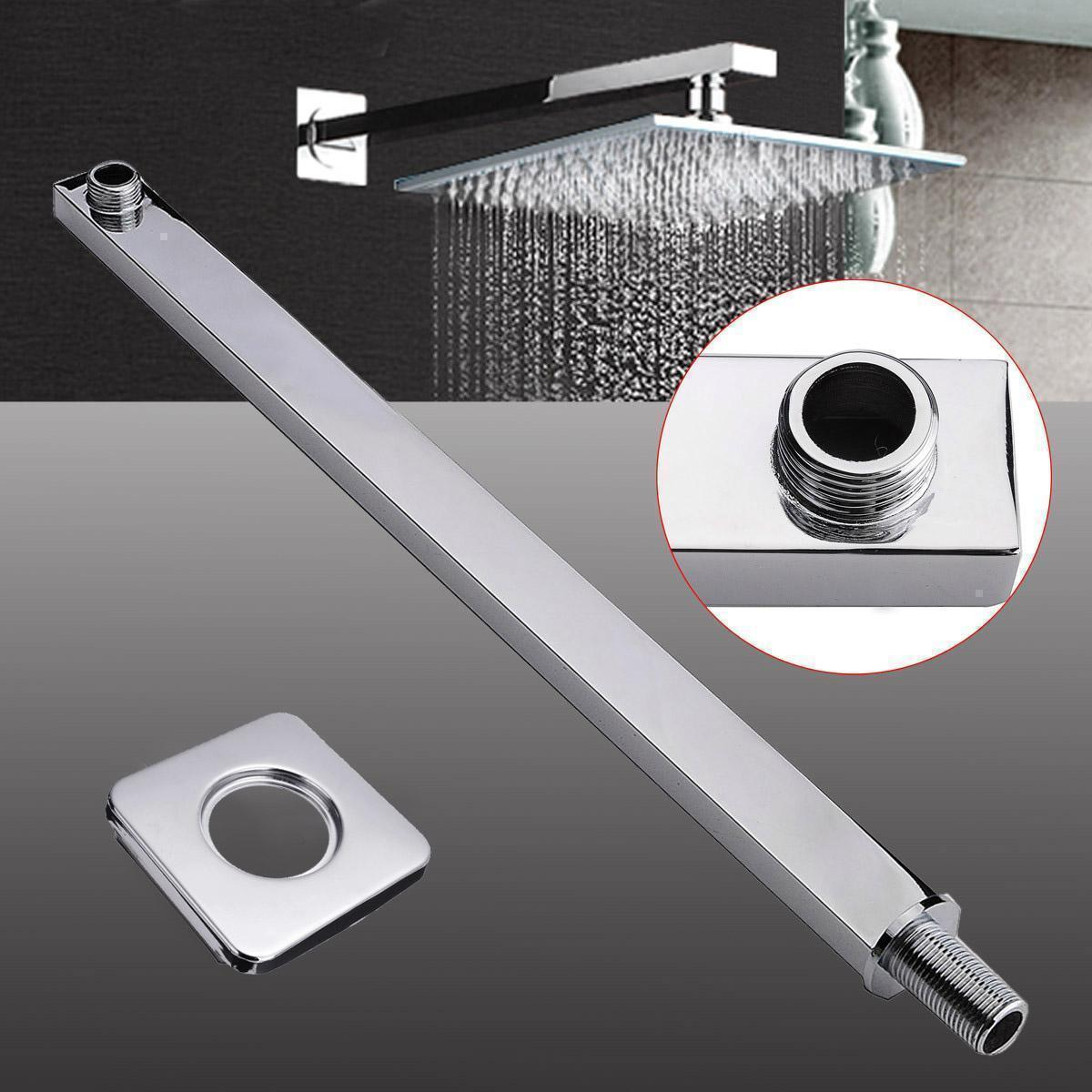 60cm 24 Square Chrome Shower Arm Bottom For Wall Mounted Shower Head Extension