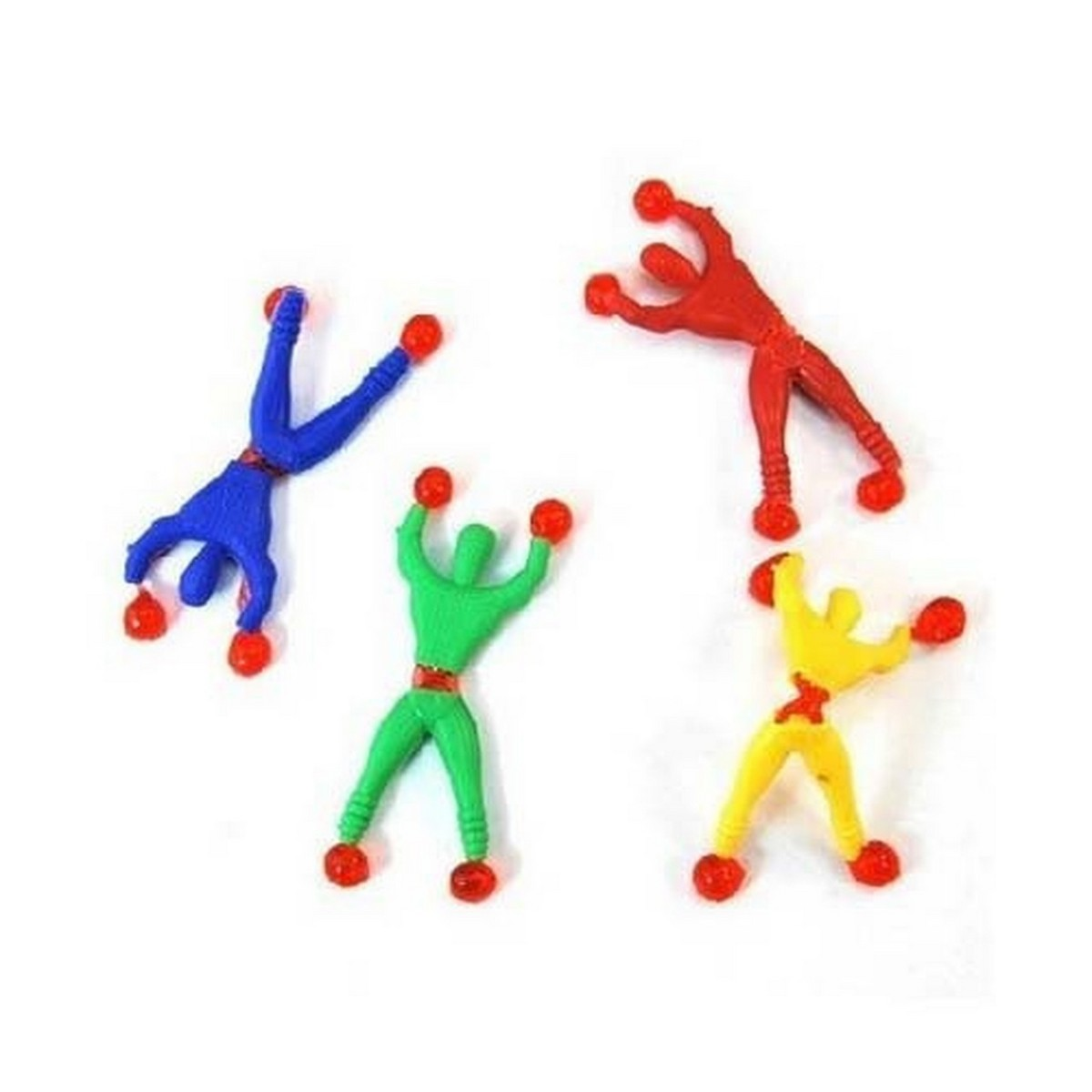 Pack Of 6 Sticky Spider Man Climbing Wall Toy For Kids