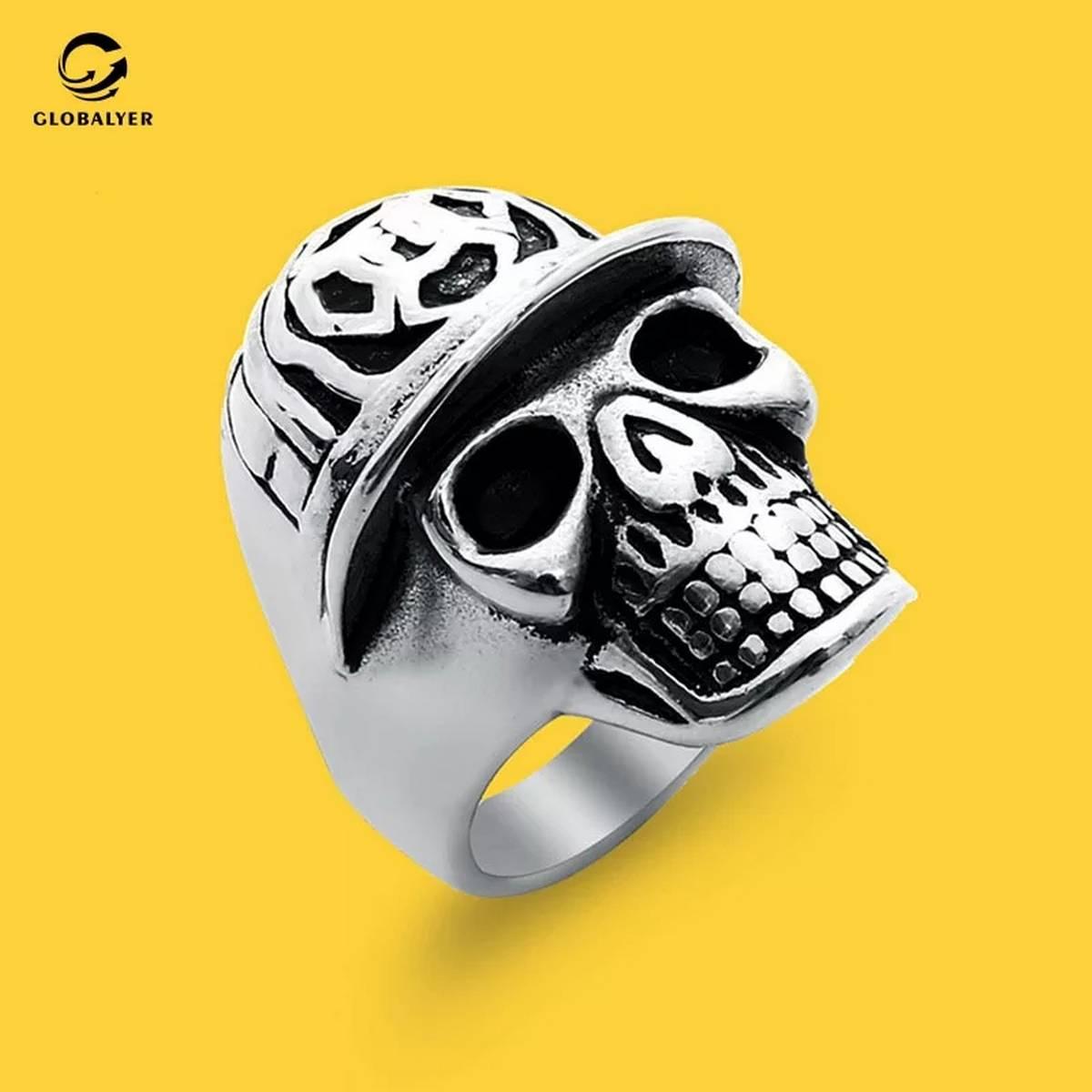 Hot Sale Vintage Style Stainless Steel Devil Talon Skeleton Skull Biker Punk Gothic Fashion Jewelry for Man Fashion Jewelry
