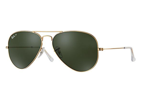 74d51dc635 Ray Ban RB 3025 001 58 58.14 135 3P Gold Green Polarized Aviator