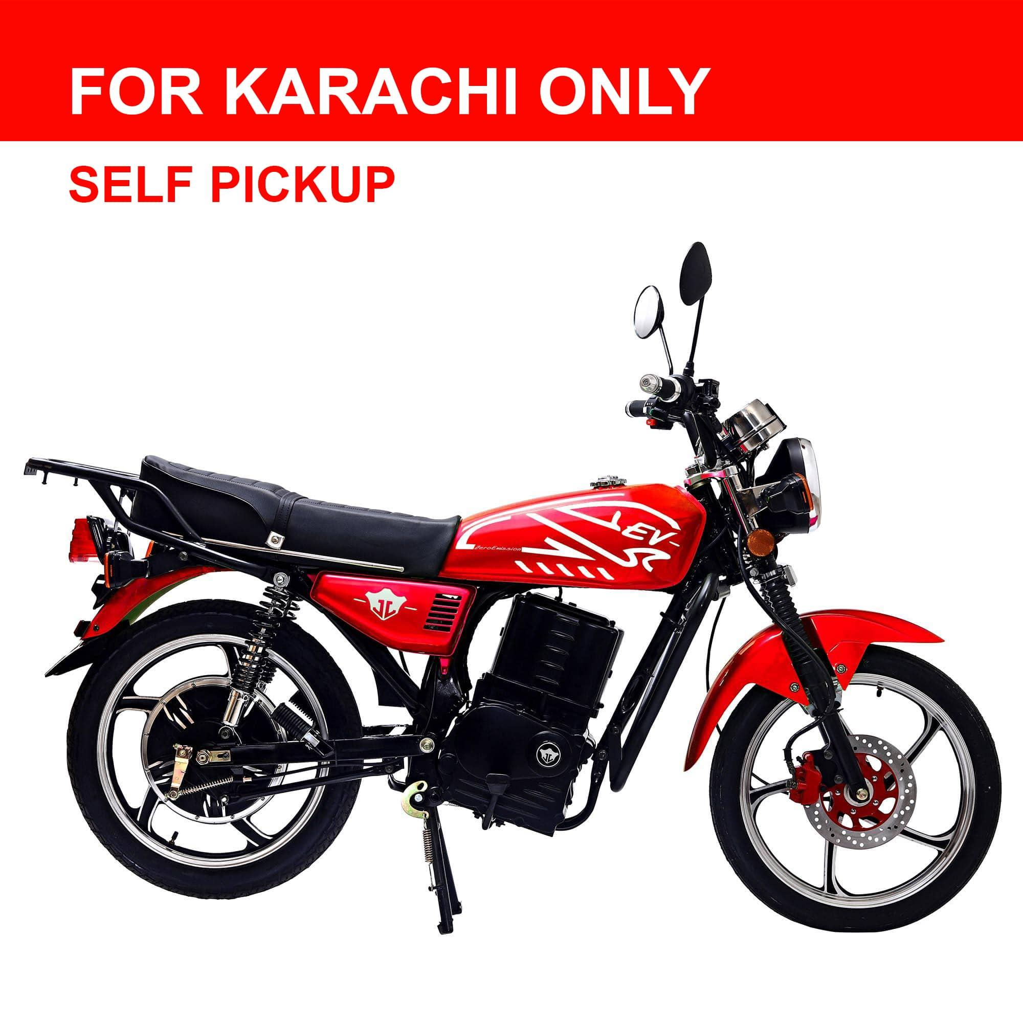 Sunra Electric Bike - 1500 Watt - Red (Karachi Only)