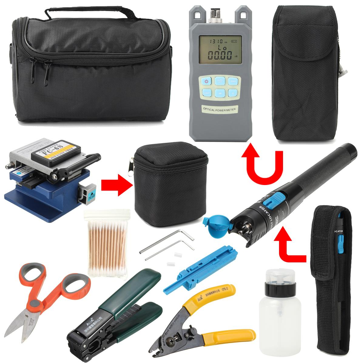 11Pcs Fiber Optic FTTH Tool Kit FC-6S+Fiber Cleaver+Power Meter Splice Strip: Buy Online at Best Prices in Pakistan | Daraz.pk
