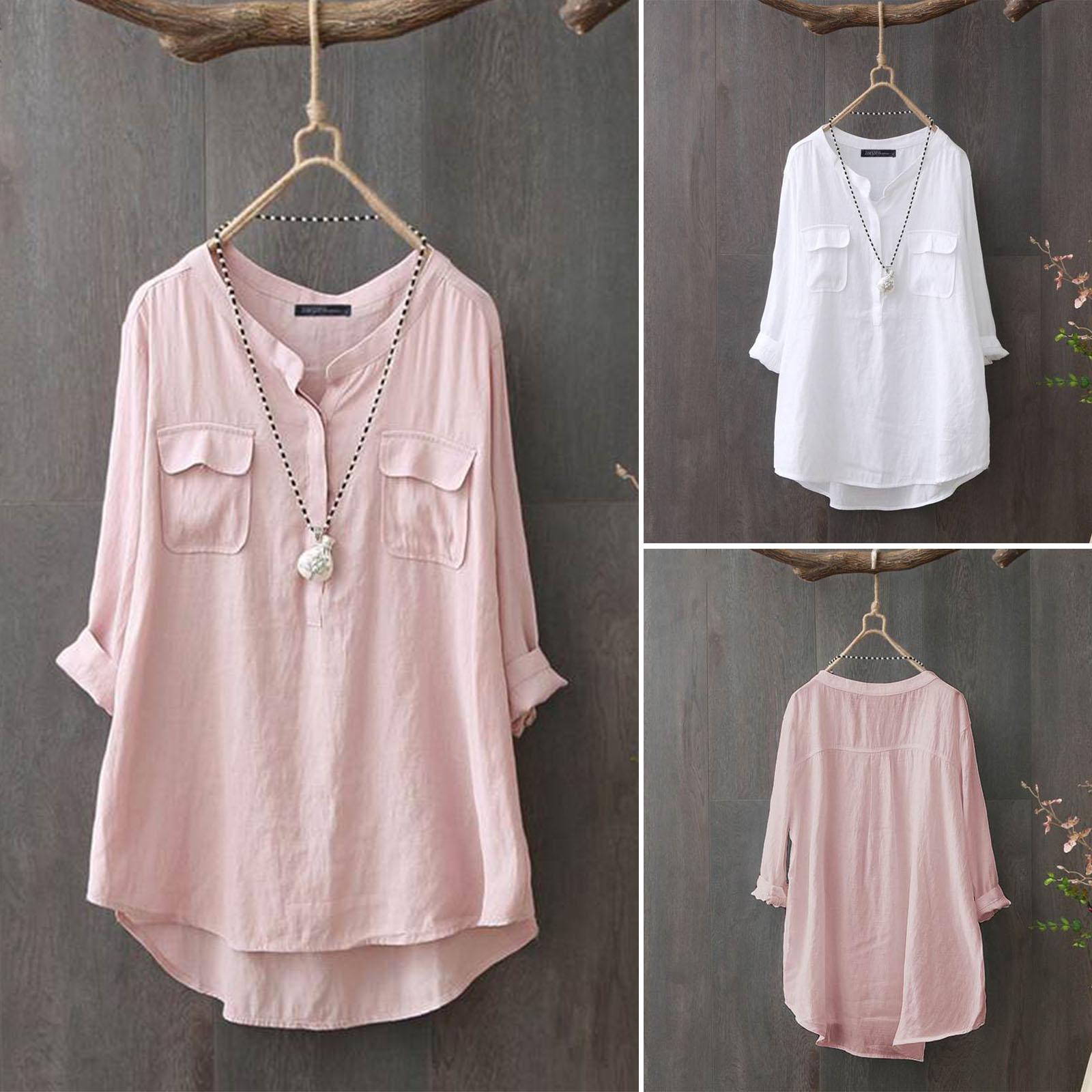 Women Buttons Casual Pocket Shirt Kurti