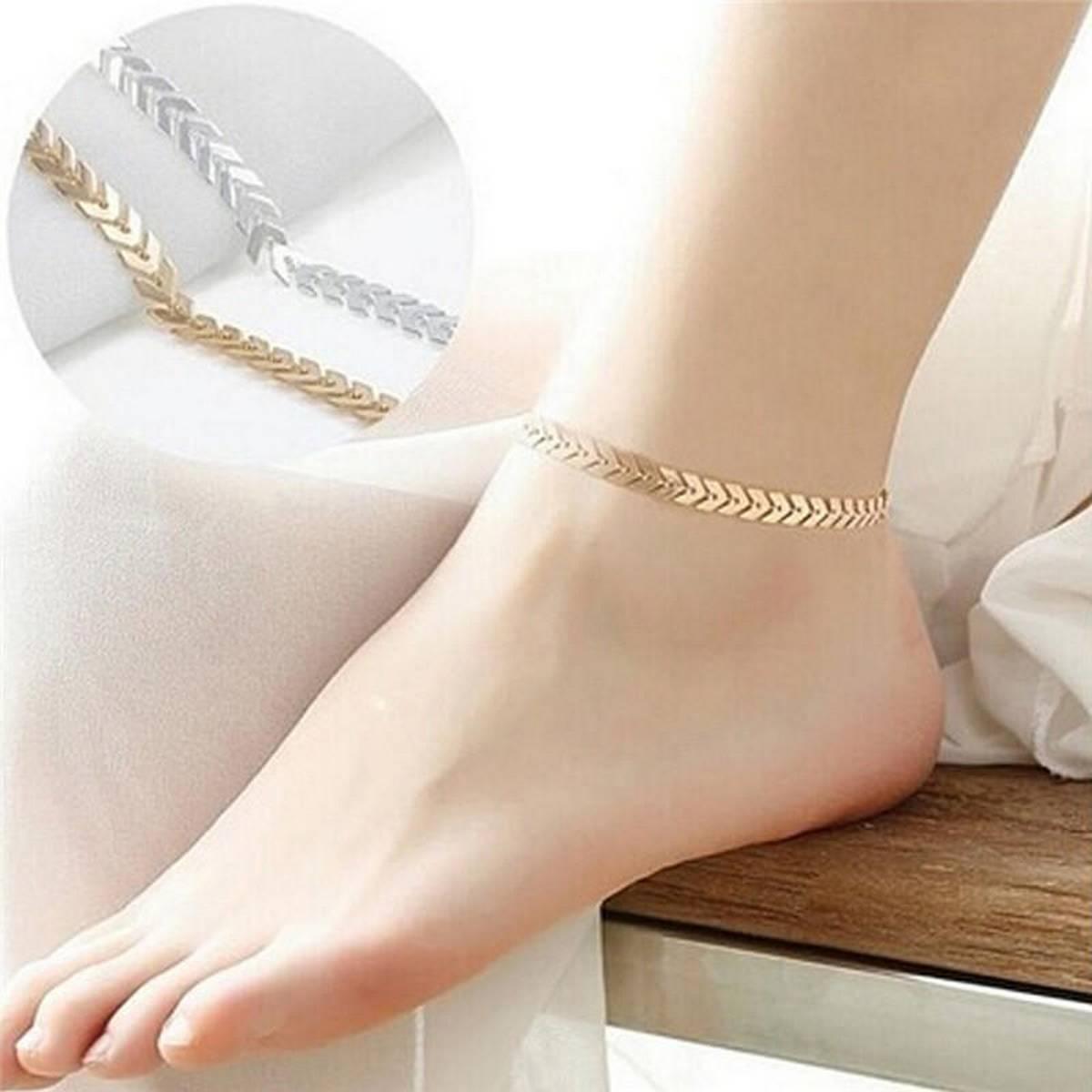 Arrow Ankle Chain Anklet Bracelet Foot Jewelry Sandal Beach