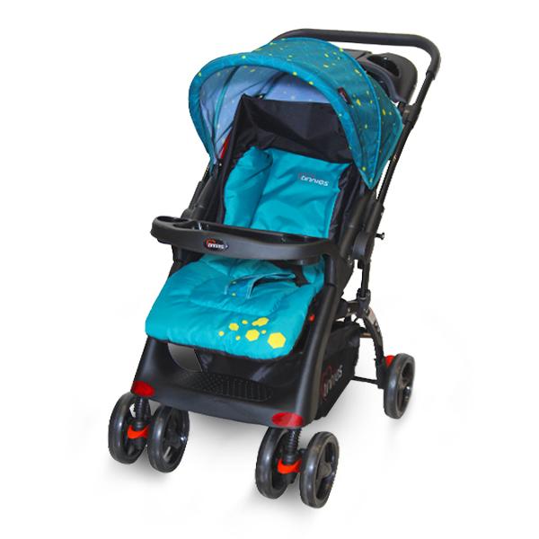 Tinnies Baby Stroller (Acid Blue) - (C-18D)