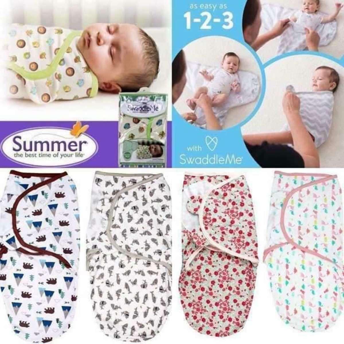 Summer SwaddleMe Adjustable Swaddle Infant Baby Wrap Blanket For Baby (Assorted Design) 0-3 Months