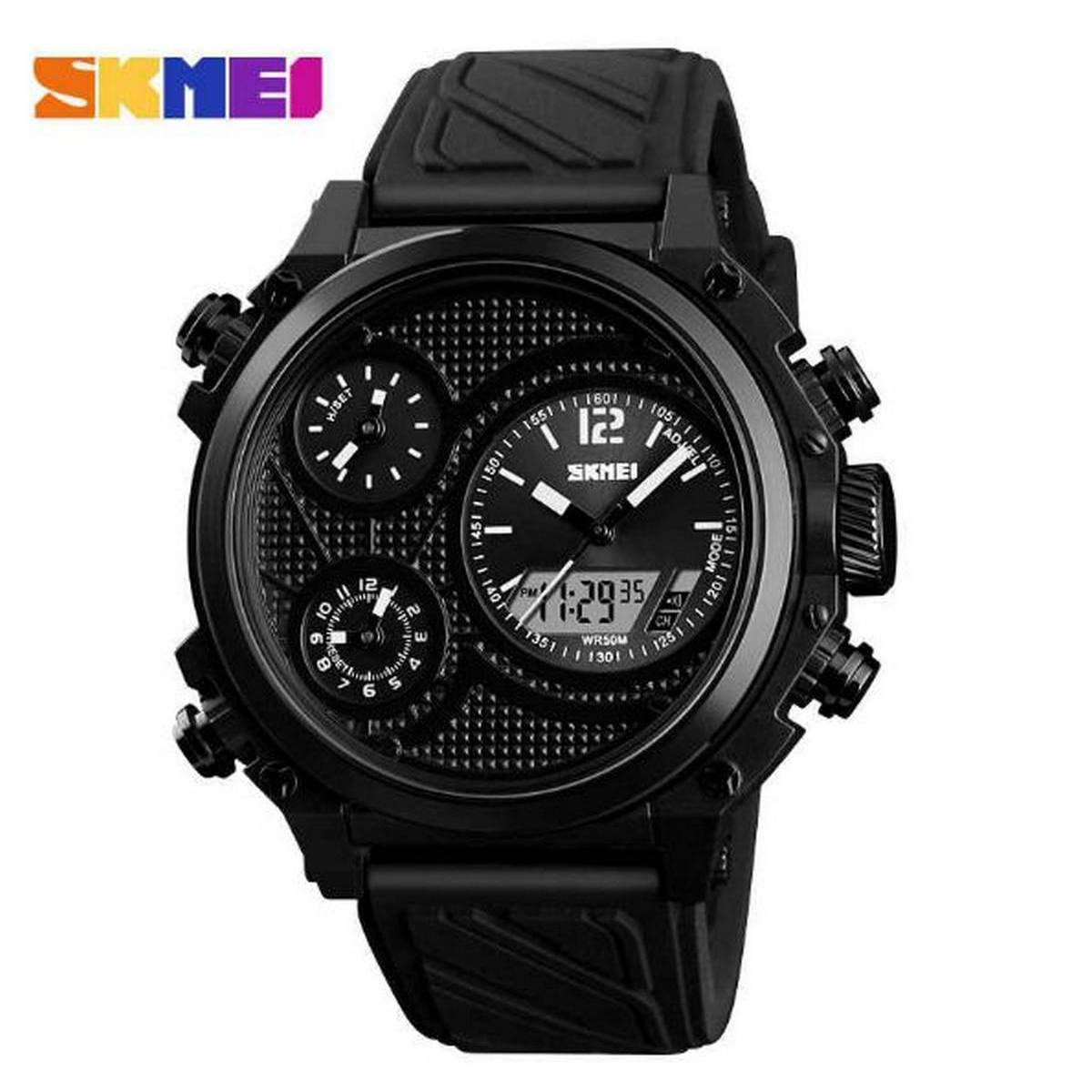 [with skmei box] Skmei Dual Display Watch  for men