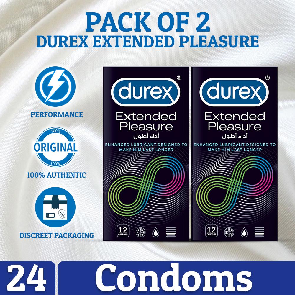 Pack of 2 Durex Extended Pleasure Condoms 12's
