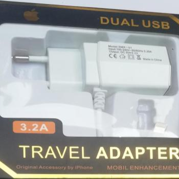 WALL CHARGER IPHONE DUAL USB////////