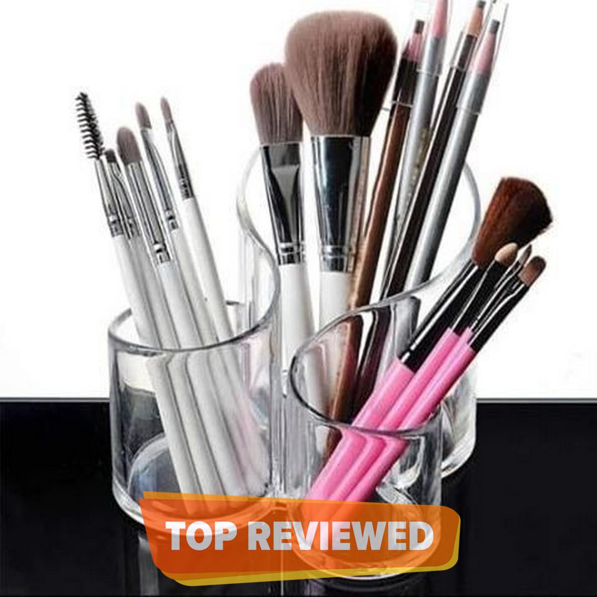 Cosmetic Makeup Organizer Transparent Acrylic Lipstick Holder Display Stand Nail Polish Eyebrow Pencil Storage Box Toothbrush Holder Stationary Holder